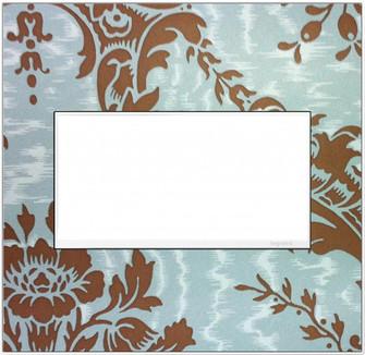 Custom Wall Plate, 2-Gang, White Trim (1452|AWM2GW4)