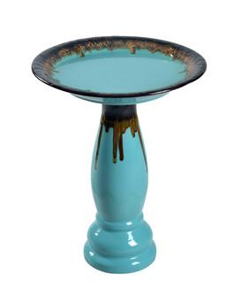Brandy Teal Glaze Birdbath (67|51085TG)