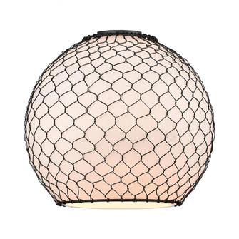 Large Farmhouse Chicken Wire Glass (3442|G121-10CBK)