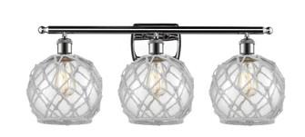 Farmhouse Rope 3 Light Bath Vanity Light (3442 516-3W-PC-G122-8RW-LED)