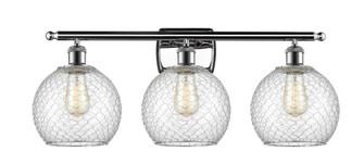 Farmhouse Chicken Wire 3 Light Bath Vanity Light (3442 516-3W-PC-G122-8CSN-LED)
