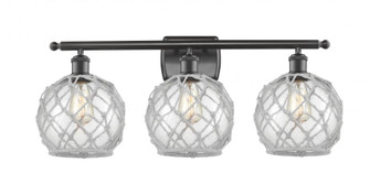 Farmhouse Rope 3 Light Bath Vanity Light (3442 516-3W-OB-G122-8RW-LED)