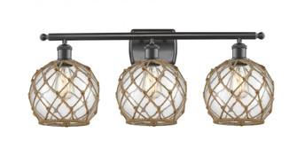 Farmhouse Rope 3 Light Bath Vanity Light (3442 516-3W-OB-G122-8RB-LED)