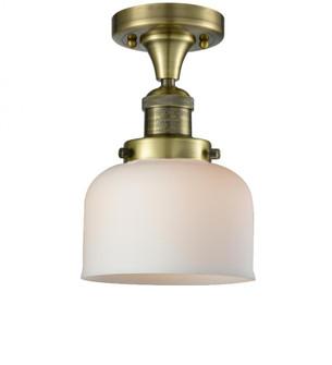 Large Bell 1 Light Semi-Flush Mount (3442 517-1CH-AB-G71-LED)