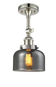 Large Bell 1 Light Semi-Flush Mount (3442 201F-PN-G73-LED)