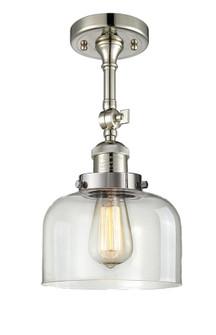 Large Bell 1 Light Semi-Flush Mount (3442 201F-PN-G72-LED)