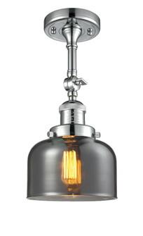 Large Bell 1 Light Semi-Flush Mount (3442 201F-PC-G73-LED)