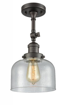 Large Bell 1 Light Semi-Flush Mount (3442 201F-OB-G74-LED)