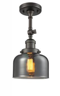 Large Bell 1 Light Semi-Flush Mount (3442 201F-OB-G73-LED)