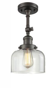 Large Bell 1 Light Semi-Flush Mount (3442 201F-OB-G72-LED)