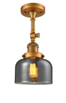 Large Bell 1 Light Semi-Flush Mount (3442 201F-BB-G73-LED)