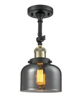 Large Bell 1 Light Semi-Flush Mount (3442 201F-BAB-G73-LED)