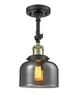 Large Bell 1 Light Semi-Flush Mount (3442 201F-BAB-G73)