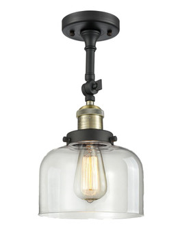 Large Bell 1 Light Semi-Flush Mount (3442 201F-BAB-G72-LED)