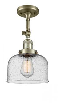 Large Bell 1 Light Semi-Flush Mount (3442 201F-AB-G74-LED)