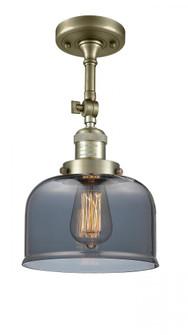 Large Bell 1 Light Semi-Flush Mount (3442 201F-AB-G73-LED)