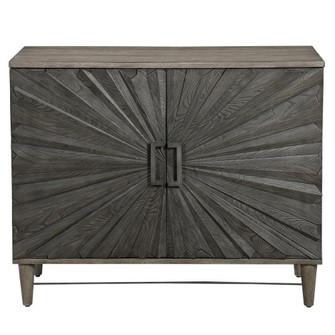 Uttermost Shield Gray Oak 2 Door Cabinet (85 25085)