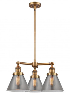 Large Cone 3 Light Chandelier (3442 207-BB-G43)