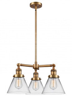 Large Cone 3 Light Chandelier (3442 207-BB-G42)