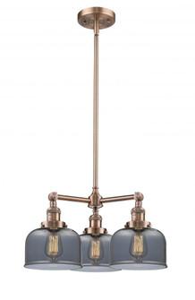 Large Bell 3 Light Chandelier (3442 207-AC-G73)