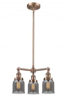 Small Bell 3 Light Chandelier (3442 207-AC-G53)