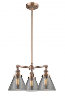 Large Cone 3 Light Chandelier (3442 207-AC-G43)