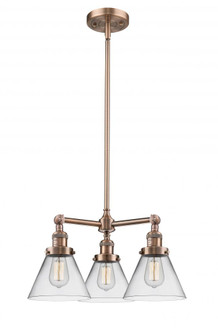 Large Cone 3 Light Chandelier (3442 207-AC-G42)