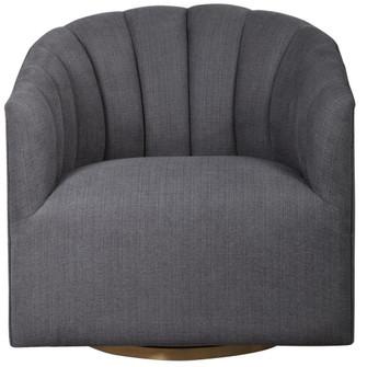 Uttermost Cuthbert Modern Swivel Chair (85 23536)