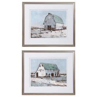 Uttermost Plein Air Barns Framed Prints Set/2 (85|33689)