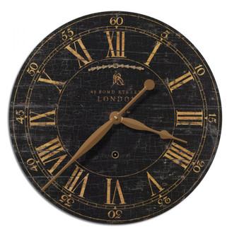 Uttermost Bond Street 18'' Black Wall Clock (85|06029)