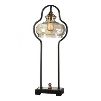 Uttermost Cotulla Aged Black Desk Lamp (85 29259-1)