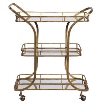 Uttermost Stassi Gold Serving Cart (85|24876)