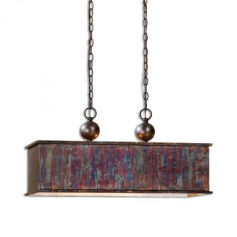 Uttermost Albiano Rectangle 2 Lt Bronze Pendant (85 21922)