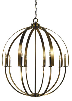 8-Light Antique Brass Luna Chandelier (84|4728 AB)