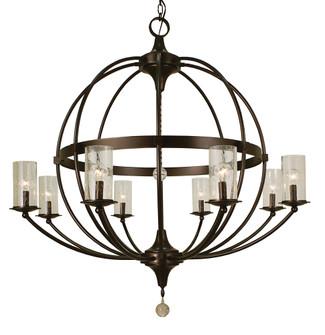8-Light Mahogany Bronze Compass Foyer Chandelier (84|1078 MB)