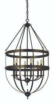 6-Light Mahogany Bronze Hannover Foyer Chandelier (84 1018 MB)