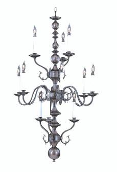12-Light Polished Brass Jamestown Foyer Chandelier (84 9132 PB)
