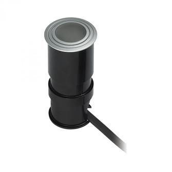 Wet Spot 1-Light Button Light in Metallic Grey with Frosted Glass Lens - Integrated LED (91 WLE125C32K-5-95)