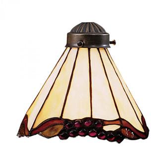 Mix-N-Match 1-Light Grape Fan Glass Only 97033 (91 999-3)
