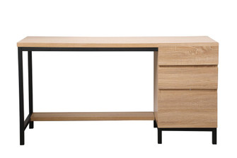 Emerson industrial single cabinet desk in mango wood (758|DF11003MW)