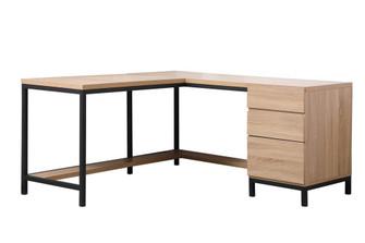 Emerson corner industrial desk in mango wood (758|DF11001MW)