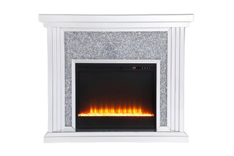 47.5 in. Crystal mirrored mantle with crystal insert fireplace (758|MF9902-F2)