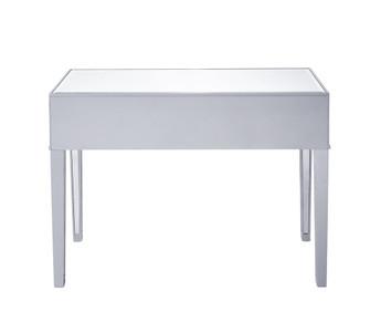 Desk 42in. W x 18in. D x 30in. H in antique silver paint (758|MF72006)