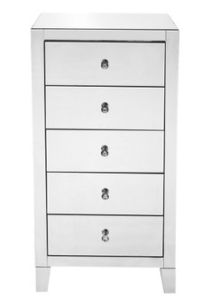5 Drawer Chest 24 in x 18 in x 45 in.in clear mirror (758|MF6-1051)