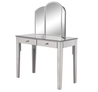 Vanity Table 42 in. x 18 in. x 31 in. and Mirror 32 in. x 24 in.? (758|MF6-2011S)