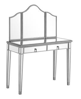 Vanity Table 42 in. x 18 in. x 31 in. and Mirror 39 in. x 1 in. x 42 in. (758|MF6-2001S)