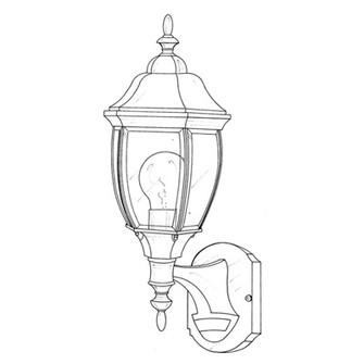 6'' Wall Lantern - Motion Detector (21|2420MD-AG)