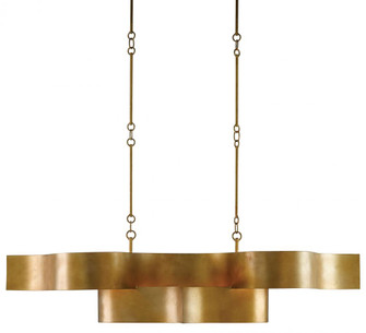 Grand Lotus Gold Oval Chandelier (92|9000-0046)