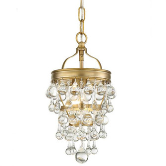 Calypso 1 Light   Crystal Teardrop Vibrant Gold Mini Chandelier (205|131-VG)