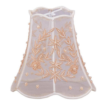 Crystorama 5'' Pearl Beaded Shade on Taupe Silk Mini Shade (205 23SH)